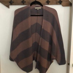 Mauve + Greyish Striped Cardigan